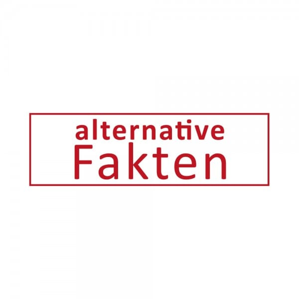 Alternative Fakten, Unwort 2017 – Dormy Imprint (47x14 mm)