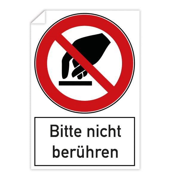 3 Stück Aufkleber - Bitte nicht berühren (200x300 mm)