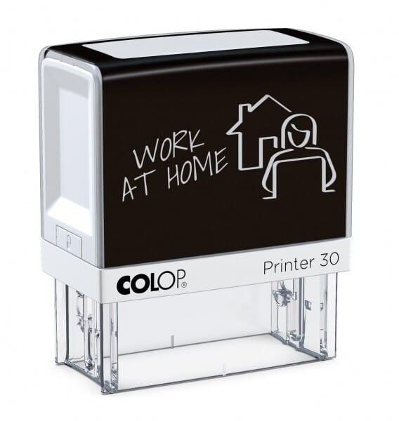 "Colop Printer 30 HOMEOFFICE Stempel ""WORK AT HOME"" (47x18 mm - 5 Zeilen)"