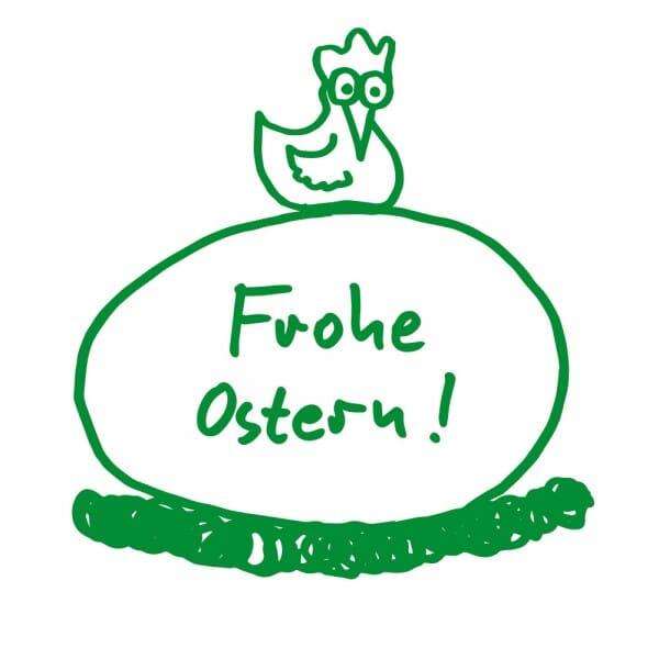 Ostern Holzstempel - Henne (Ø 40 mm)