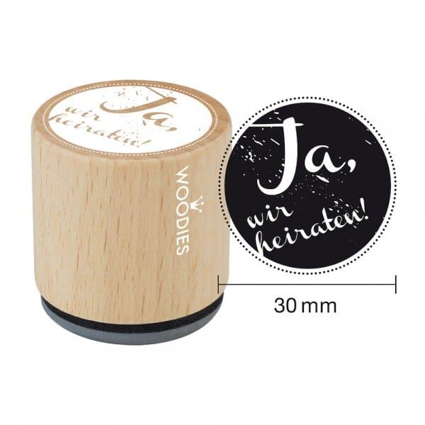 Woodies Stempel - Ja, wir heiraten bei Stempel-Fabrik
