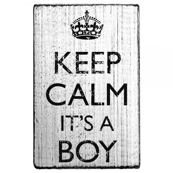 """Vintage Stempel """"Keep calm it´s a boy"""""""