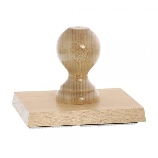 Holzstempel (130x100 mm - 20 Zeilen)