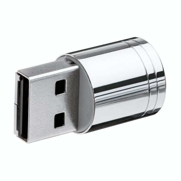 Heri USB-Stamp 8 GB soft-touch Lack (USB-Stick mit Stempel) (33x8 mm - 3 Zeilen)