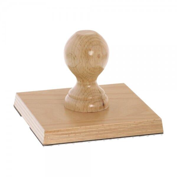 Holzstempel (130x130 mm - 24 Zeilen)