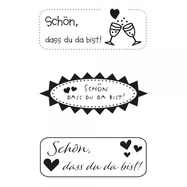 Hochzeitsstempel - Schön, dass Du da bist! (60x30 mm)