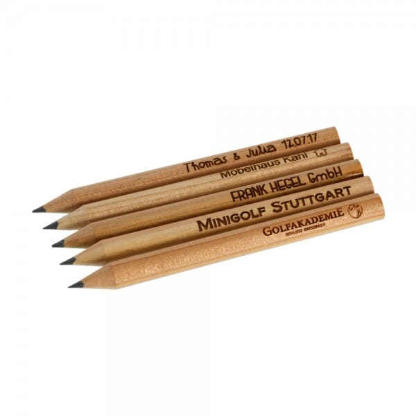 Kleine Bleistifte (Gravurmaß 65x5 mm)