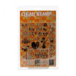 Clearstempel - Set Blumen
