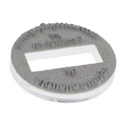 Textplatte für Trodat Printy 46125 (ø 25 mm - 4 Zeilen)