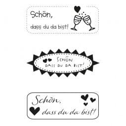Hochzeit - Schön, dass du da bist! (60x30 mm)