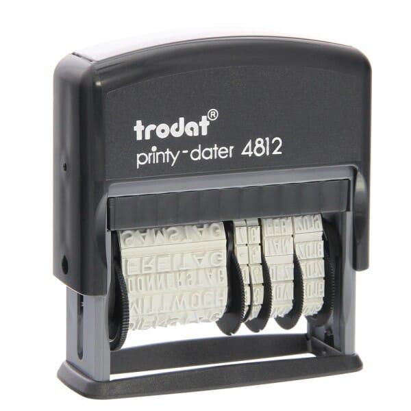Trodat Printy 4812 Dater und Wochentage (25x3,8 mm)
