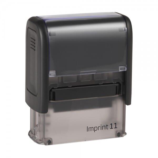 """Dormy Imprint 11 Lagertext """"zurück zum Absender"""" (37x14 mm - 1 Zeile)"""