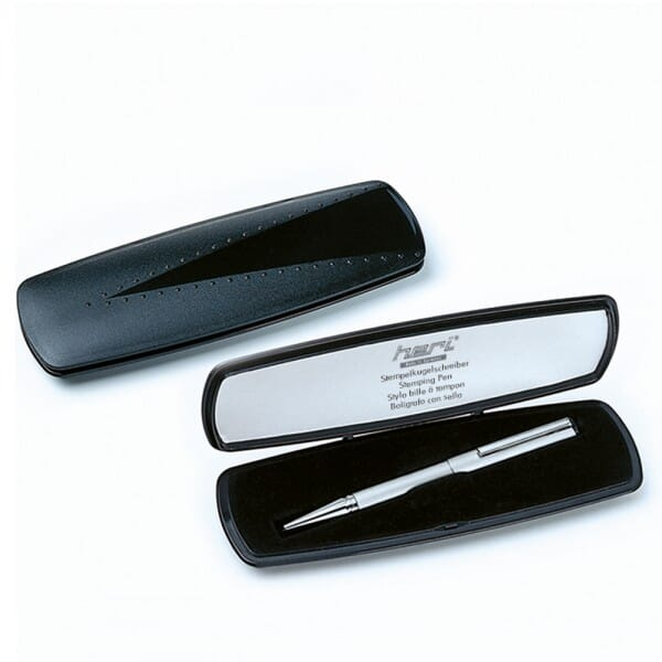 Heri Diagonal Color 6001 Kugelschreiberstempel Hellgrau (33x8 mm - 3 zeilen)