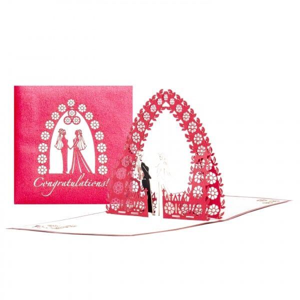 Colognecards Pop-Up Karte Wedding Card Mrs. & Mrs.