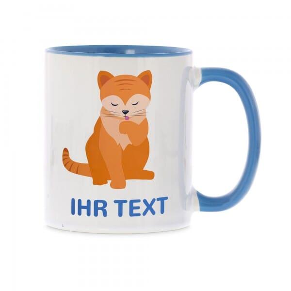 "Keramiktasse ""Katze"" inkl. individueller Druck"