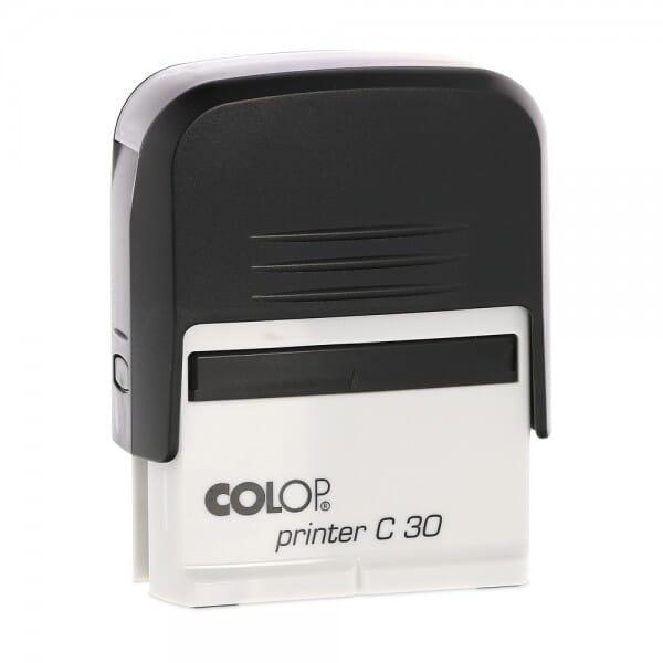 AKTION - Colop Printer C30 schwarz/blau(47x18 mm - 5 Zeilen) bei Stempel-Fabrik