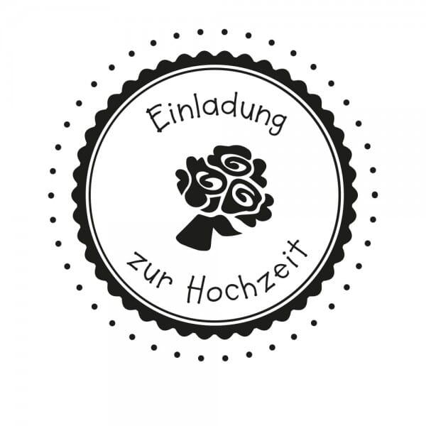 Hochzeitsstempel - Einladung - Blumen (Ø 50 mm)