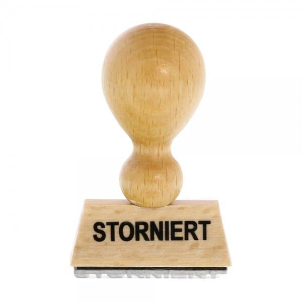 Holzstempel STORNIERT (50x10 mm - 1 Zeile)