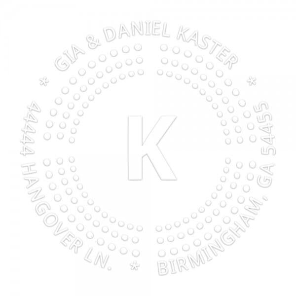 Monogramm-Prägezange 51 mm rund - Punkte