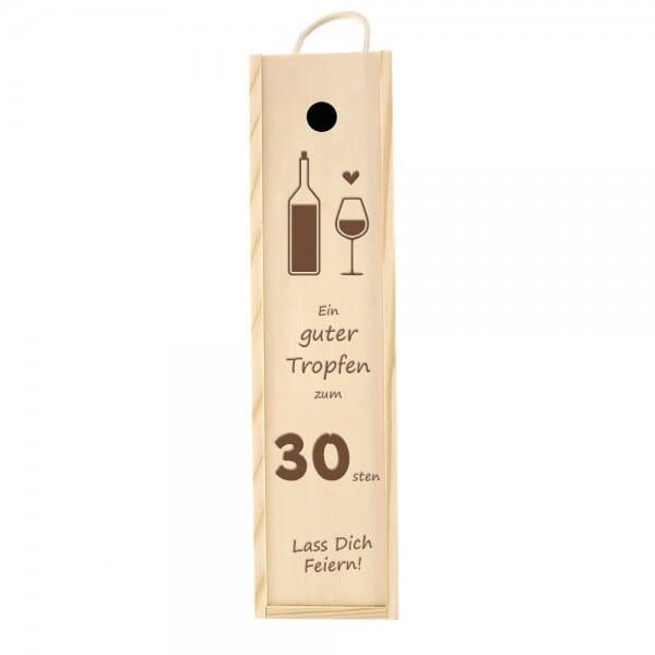 Weinkiste/Geschenkkiste zum 30. Geburtstag