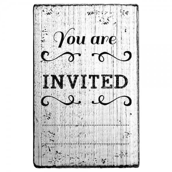 "Vintage Stempel ""You are invited"""