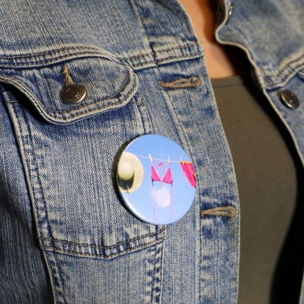 Buttons mit eigenem Motiv und Anstecknadel (ø 56 mm rund - 10 Stück)