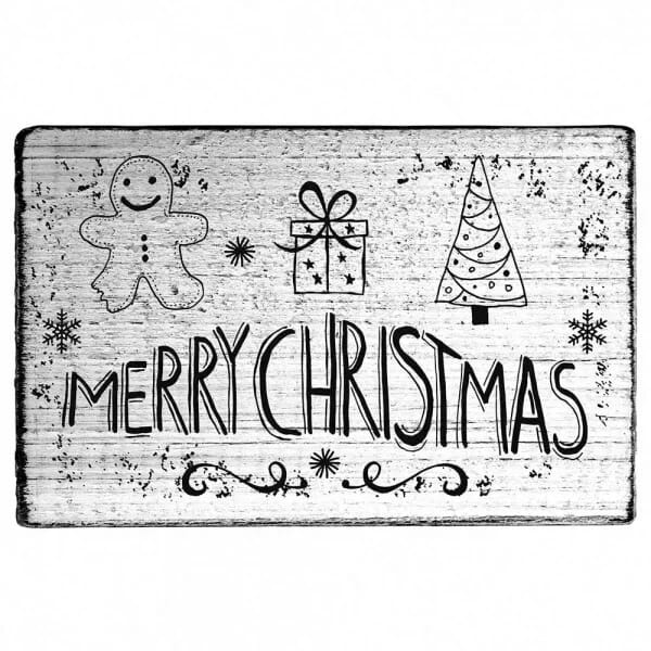 "Vintage Stempel ""Merry Christmas"" - Lebkuchenmann"