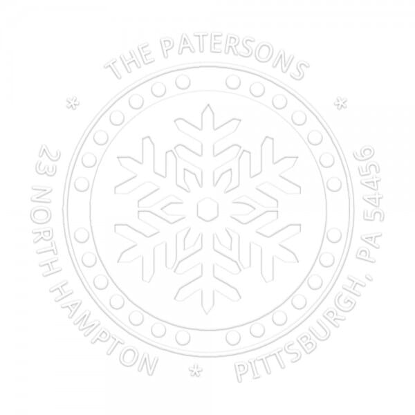 Monogramm-Prägezange 51 mm rund - Schneeflocke im Winter