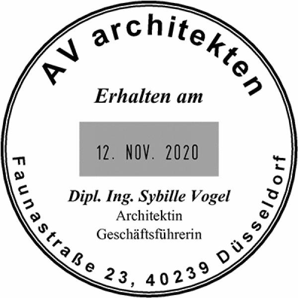 Colop Platten-Datumstempel P 700/19 (ø51 mm - 10 Zeilen)