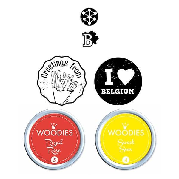 Woodies Stempel SET - Belgien WS0015