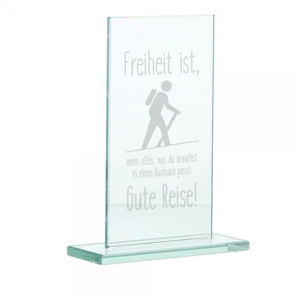"""Glasständer zum Abschied """"Freiheit"""""""
