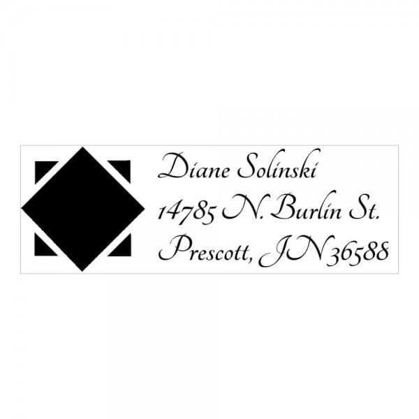 Monogrammstempel rechteckig - Schwarzer Diamant