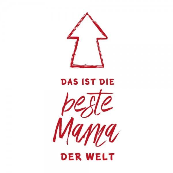Muttertag Holzstempel - Das ist die Beste Mama der Welt (60x30mm)