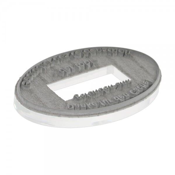 Textplatte für Colop P 700/22 Oval (67x44 mm - 4 Zeilen)