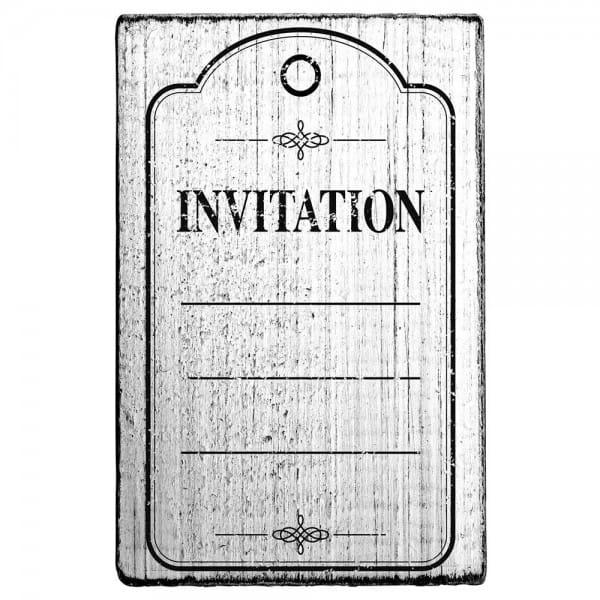 """Vintage Stempel """"Invitation""""- Rahmen"""