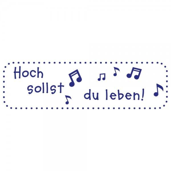 Feierlichkeiten Holzstempel - Hoch sollst du leben (70x20 mm)