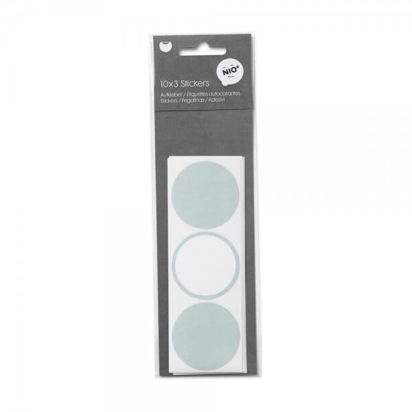 NIO Aufkleber Mint (ø 45 mm - 3x10 Stück)