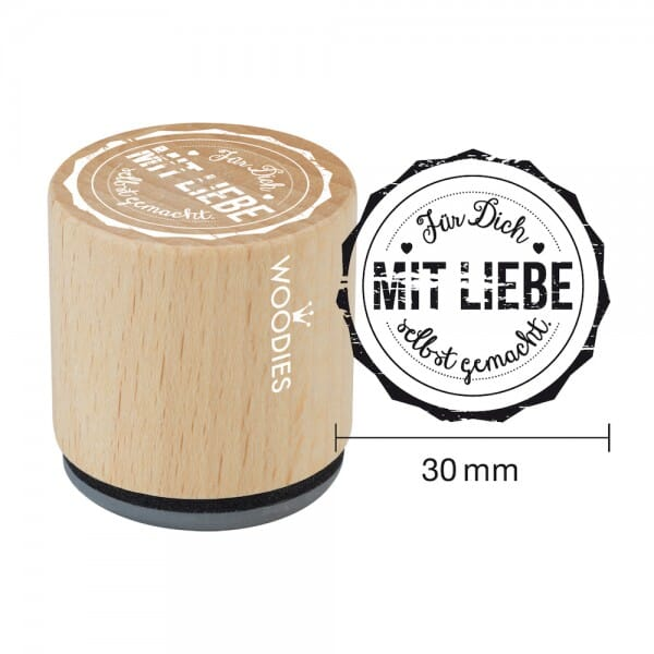 Woodies Stempel - Für Dich mit Liebe selbstgemacht bei Stempel-Fabrik