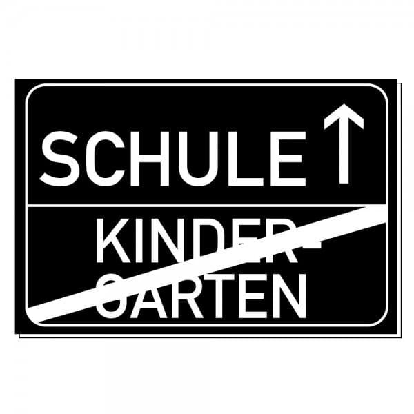 """Lasergraviertes Kunststoffschild Abschied """"Schule"""" (300x200 mm)"""