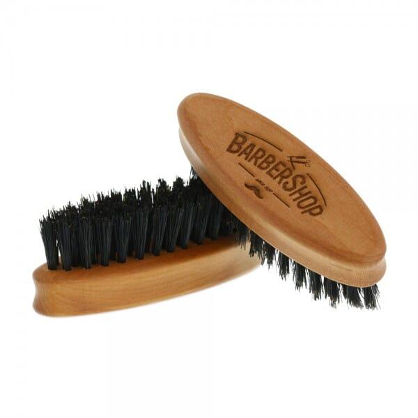 Bartbürste aus Birnbaumholz oval (Gravurmaß 40x...
