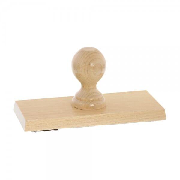 Holzstempel (200x90 mm - 18 Zeilen)