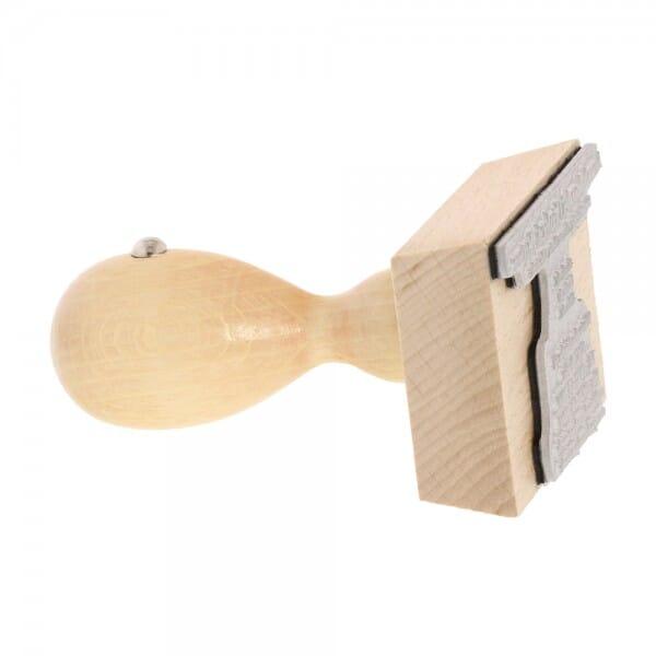 Holzstempel (60x40 mm - 8 Zeilen)