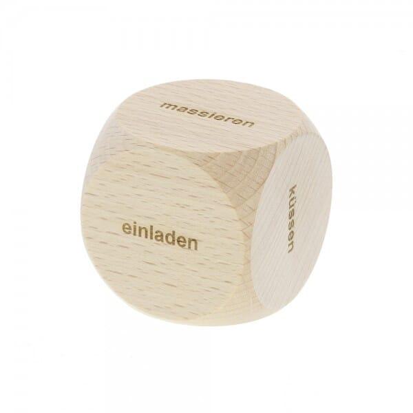 Holzwürfel aus Buchenholz (Gravurmaß 50x50x50 mm)