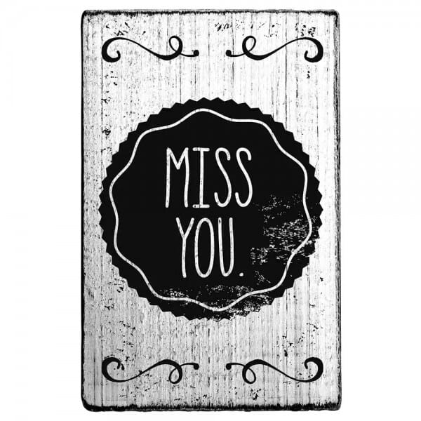 "Vintage Stempel ""Miss you"""