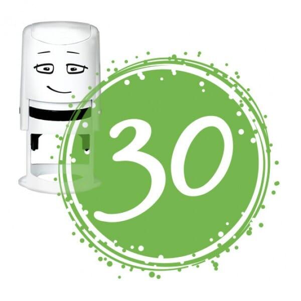 NIO Stempelmotiv - birthday 30-badge