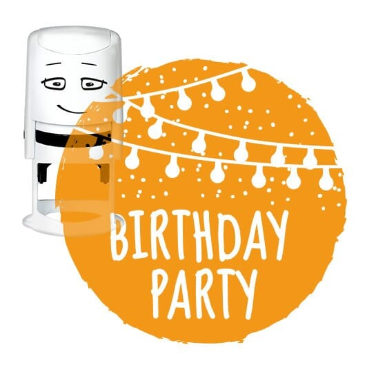 NIO Stempelmotiv - birthday party-festoon