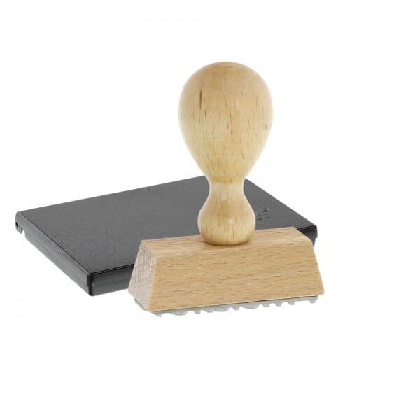 Feierlichkeiten Holzstempel / Selbstfärber (47x18 mm - 4 Zeilen)