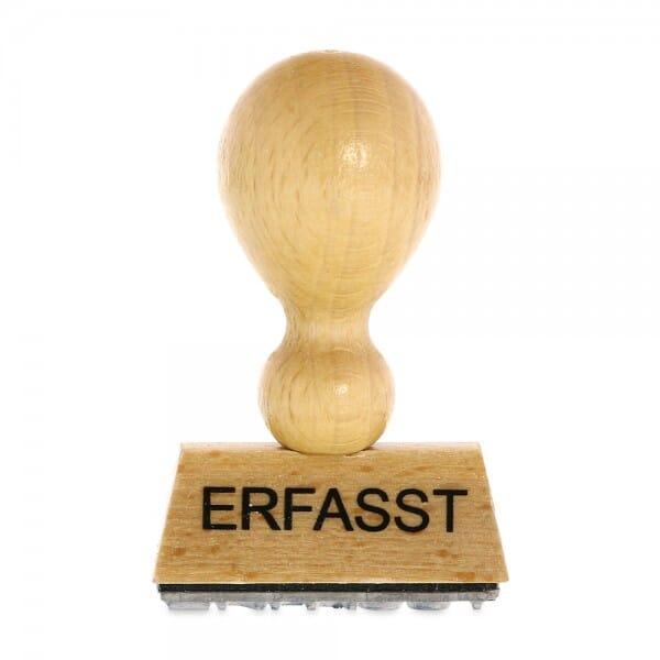 Holzstempel ERFASST (40x10 mm - 1 Zeile)