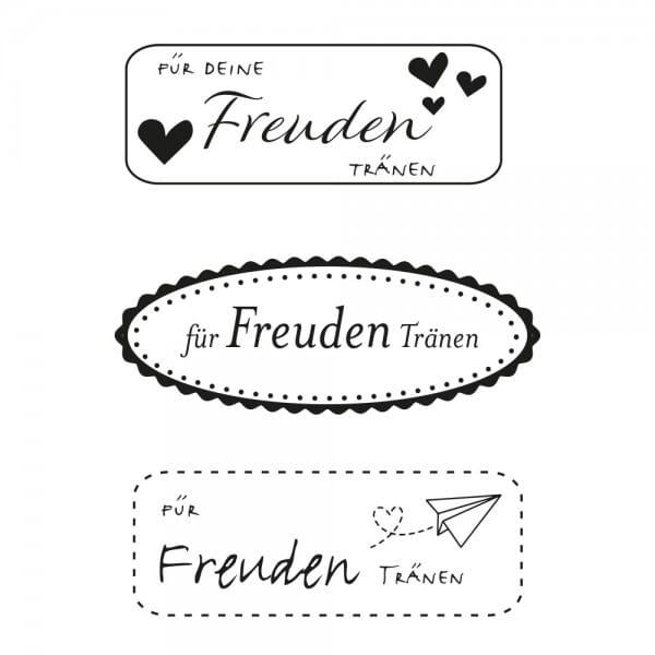 Hochzeitsstempel - Freudentränen eckig (40x10 mm)