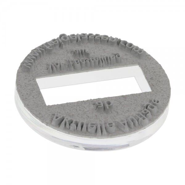 Textplatte für Trodat Printy 46119 (ø 19 mm - 3 Zeilen)